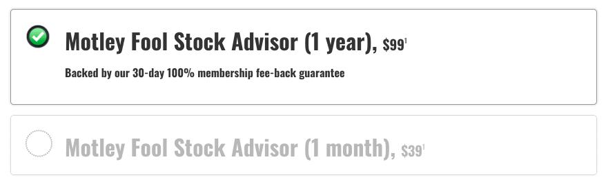 Stock Advisor Pricing