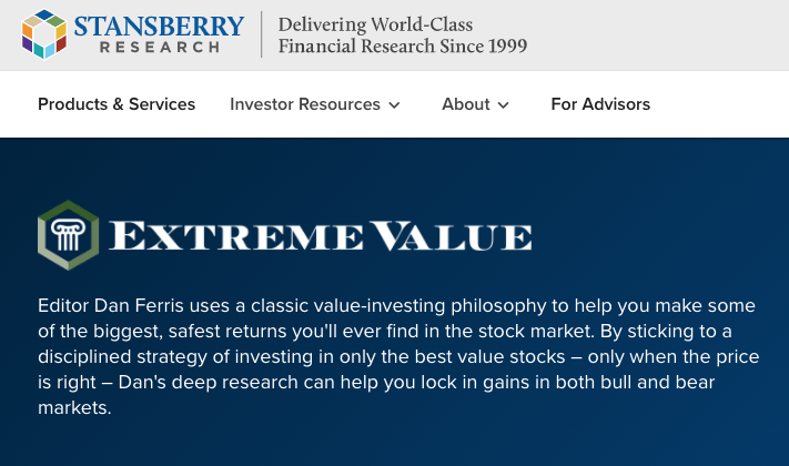 Stansberry Research Extreme Value